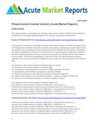 Poland cement market Industry Acute Market Reports