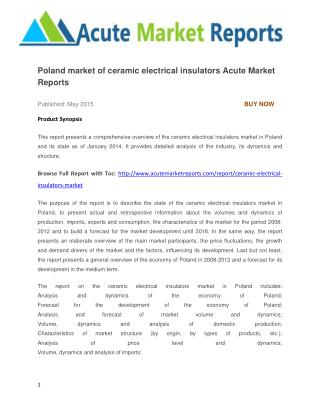 Poland market of ceramic electrical insulators Acute Market Reports