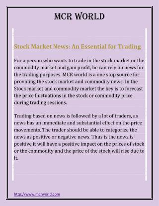 Stock Market News: An Essential for Trading
