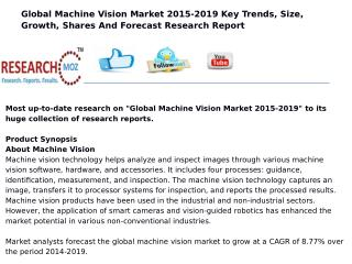 Global Machine Vision Market 2015-2019