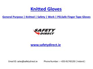 General Purpose | Knitted | Safety | Work | PELSafe Finger Tape Gloves | Safetydirect.ie