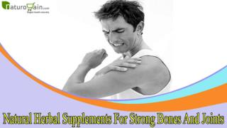 Natural Herbal Supplements For Strong Bones And Joints