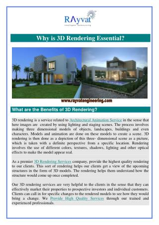 Why is 3D Rendering Essential?