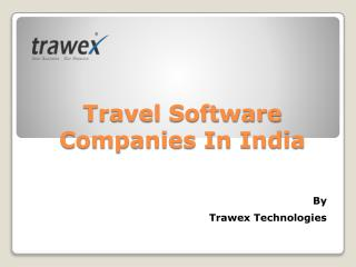 Travel Software Companies In India
