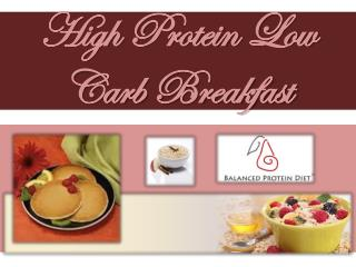 High Protein Low Carb Breakfast