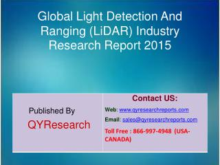 Global Light Detection And Ranging (LiDAR) Market 2015 Industry Overview, Analysis, Research, Trends, Growth, Forecast