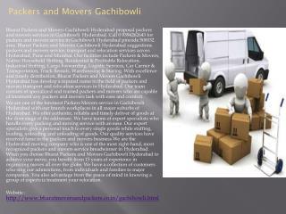 Packers and Movers Gachibowli