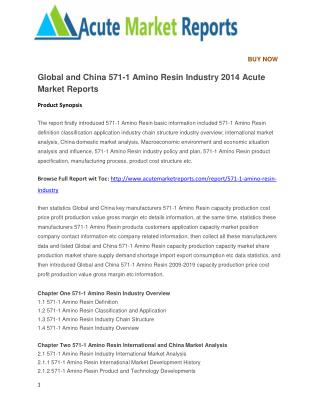 Global and China 571-1 Amino Resin Industry 2014 Acute Market Reports