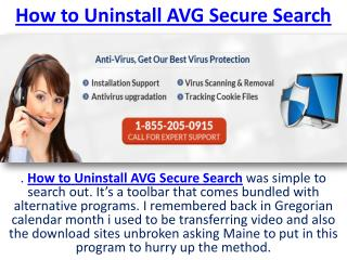 How to Uninstall AVG Secure Search & Virus Removal