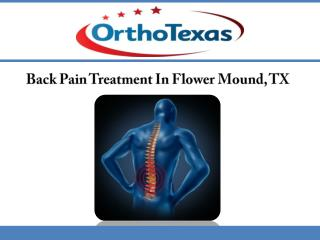 Back Pain Treatment In Flower Mound, TX