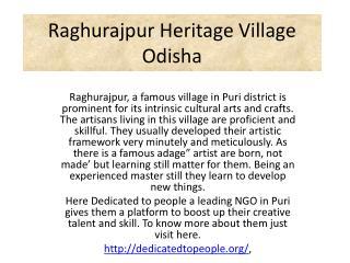 Raghurajpur Heritage Village Odisha