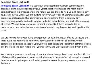 locksmith Pompano Beach