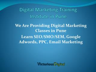 Digital Marketing Training Institute Pune