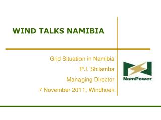 WIND TALKS NAMIBIA