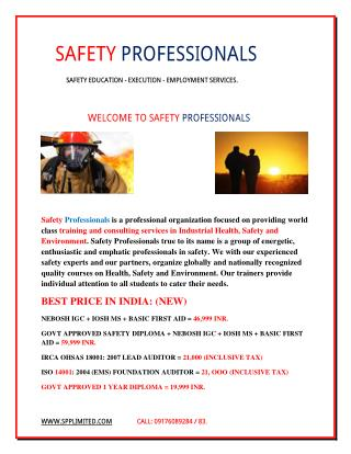 safety courses in chennai - safety course in chennai
