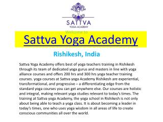 200 & 300 Hour Yoga Teacher Training in Rishikesh