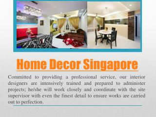 Home Decoration Singapore