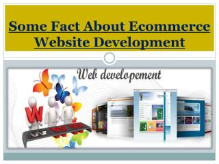 Some Fact About Ecommerce Website Development