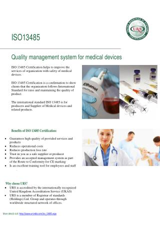 iso 13485 certification by ursindia