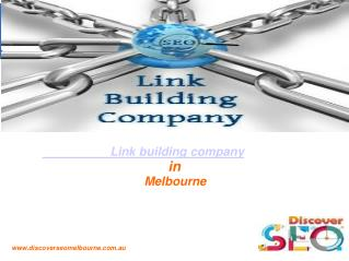 SEO Link Building Company in Melbourne