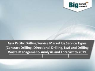 Asia Pacific Drilling Service Market by Service Types 2019 - Size, Trends, Growth & Forecast