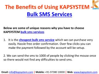 The Benefits of Using KAPSYSTEM BULK SMS Services