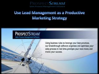 Use Lead Management as a Productive Marketing Strategy