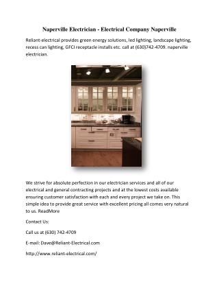 Naperville Electrician - Electrical Company Naperville