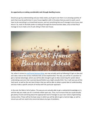 small home business ideas