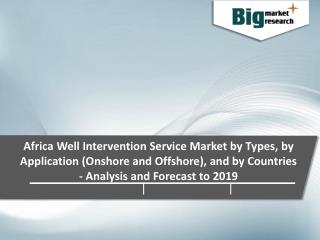 Africa Well Intervention Market by Service Types 2019 - Size, Trends, Growth & Forecast