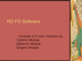 RD FD Software, NGO Software, RD Software, FD Software, Community Banking Software