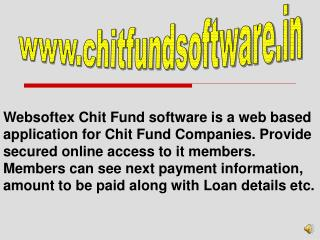 Chit Fund, MLM Software, Microfinance, RD FD, Co-Operative, HR Payroll