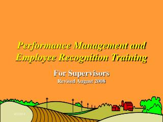 Performance Management and Employee Recognition Training