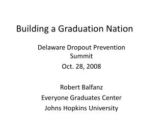 Building a Graduation Nation