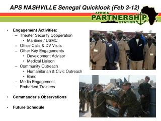 APS NASHVILLE Senegal Quicklook (Feb 3-12)