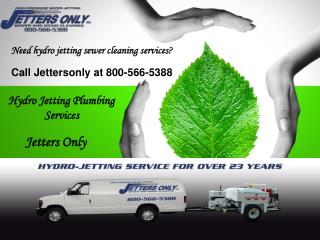 Hydro Jetting Sewer Lines