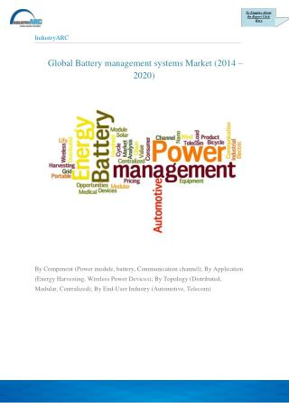 Battery Management Systems Market