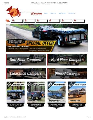 Off Road Camper Trailers for Sale in VIC, NSW, SA, QLD, WA & TAS