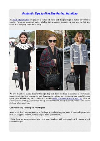 Fantastic tips to find the perfect handbag