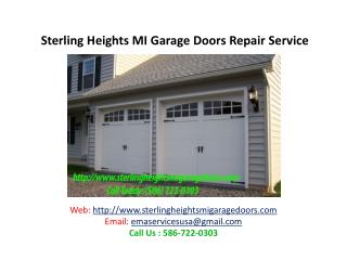 Sterling Heights MI Garage Doors Repair Service