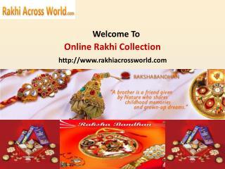 Send rakhi to patna at Rakhiacrossworld.com