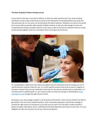 Botox Training for Nurses