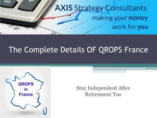 Get Important details of QROPS France