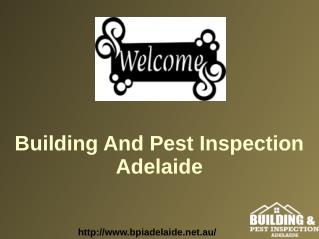 Adelaide Strata Inspection