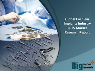Global Cochlear Implants Industry 2015 Deep Market Research Report