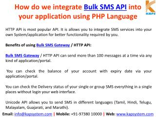 Integrate Bulk SMS API into your application using PHP Language