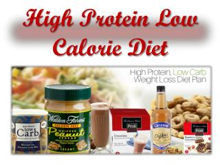 High Protein Low Calorie Diet