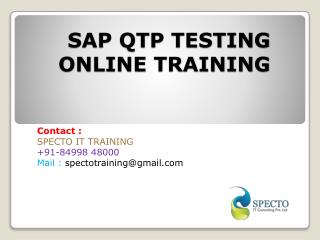 online training classes on sap qto testing by real time experts