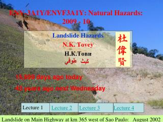 ENV-3A1Y/ENVF3A1Y: Natural Hazards:   2009 - 10