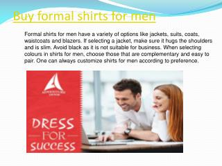 Buy formal shirts for men